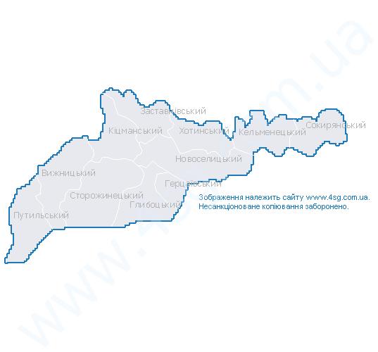 Карта Чернівецької Області